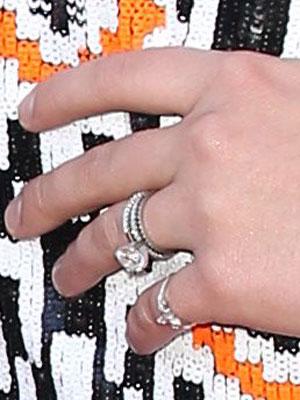 Jamie Lynn Spears' wedding rings, 49th Annual Academy of Country Music Awards, Las Vegas, America - 06 Apr 2014