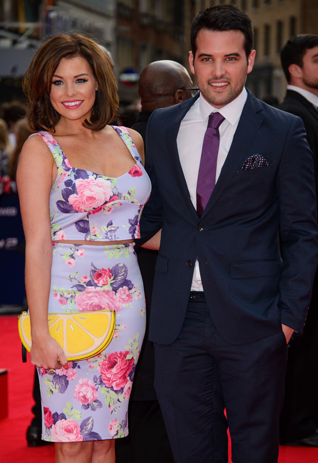 Jessica Wright and Ricky Rayment, The Amazing Spider-Man 2' World Premiere held at the Odeon Leicester Square - Arrivals, 10 April 2014