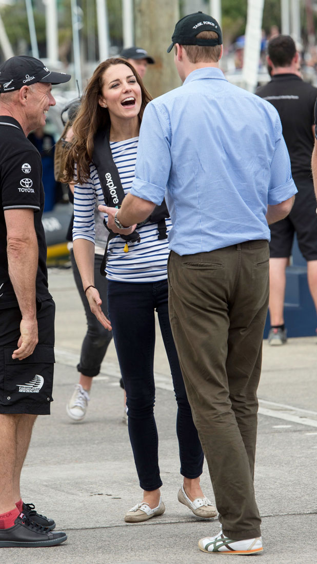Prince William and Catherine Duchess of Cambridge visited Emirates Team New Zealand base, home to New Zealand's Americas Cup Team, 11 April 2014