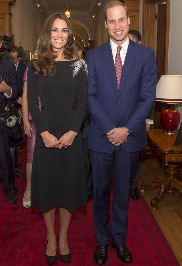 Prince William and Catherine Duchess of Cambridge attend a State Reception at Government House 10 Apr 2014