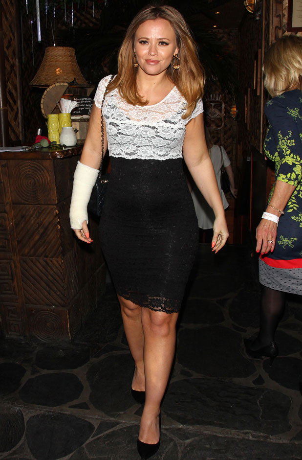 Pregnant Kimberley Walsh at Body Frock launch in Green Park Mayfair, London, 10 April 2014