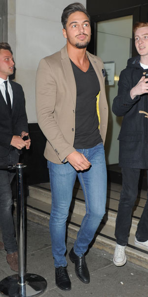 Mario Falcone arriving for the James Jog on 2 Cancer Research dinner at the Kensington Roof Gardens, London, 9 April 2014