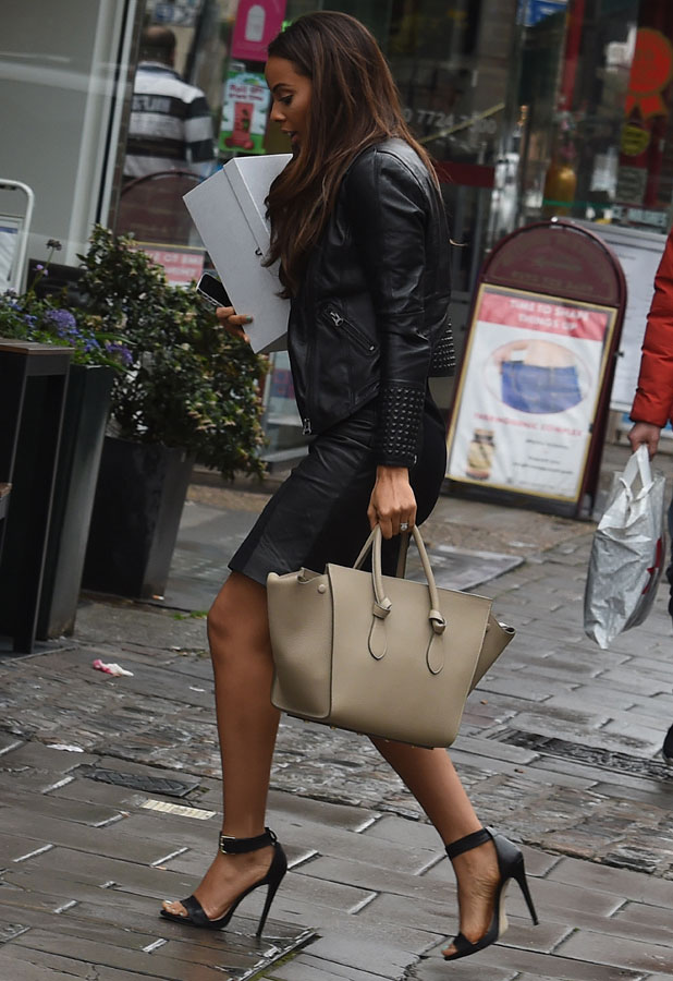 Rochelle Humes outside the ITV studios, London, 7 April 2014