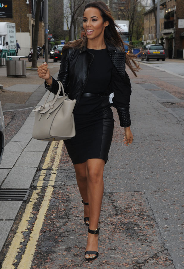 Rochelle Humes outside the ITV, London, 7 April 2014