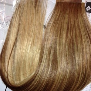 Maria Fowlers shows off her new Easilocks blonde extensions, 15 April 2014