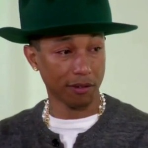 Pharrell WIlliams bursts into tears while on Oprah Winfrey's Oprah Prime show. (Aired in US
