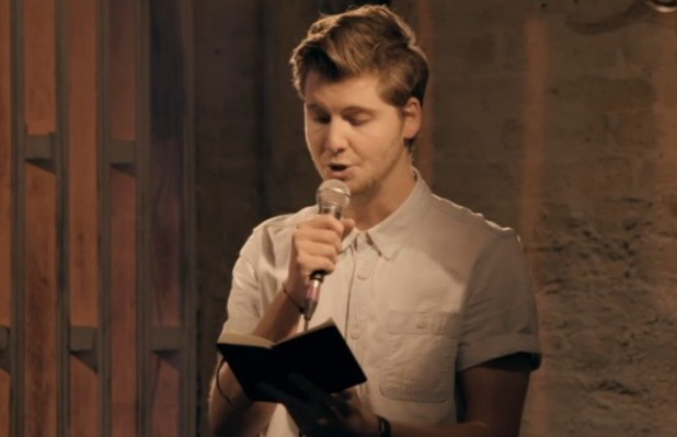 Made In Chelsea's Stevie Johnson reads out poem. Aired 14 April 2014.