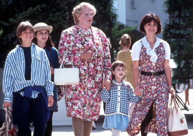 Mrs. Doubtfire - 1993 film - starring Chris Columbus, Robin Wiliams, Mara Wilson, Sally Field.