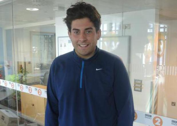 TOWIE's James 'Arg' Argent before his interview on BBC Radio 2. (16 April).