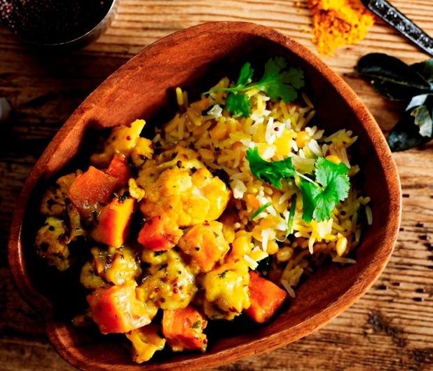 Coconut and lentil pilaf