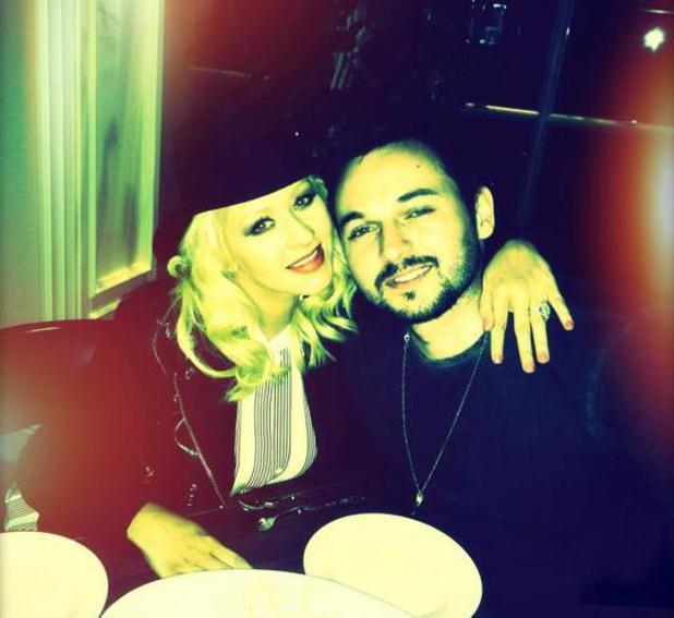Christina Aguilera celebrates Matthew Rutler's birthday (10 April).