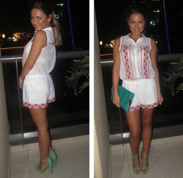 Sam Faiers posts picture of her holiday outfit in Dubai on 15 April 2014
