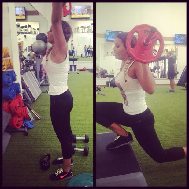 Lateysha Grace works out in the gym - 15 April 2014