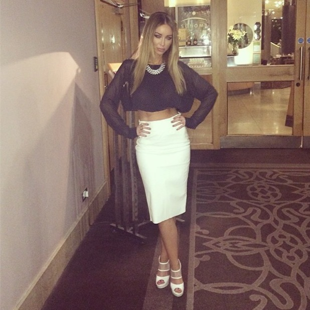 Lauren Pope poses in an outfit from her own range for inthestyle.co.uk before DJing in Belfast, Ireland - 13 April 2014