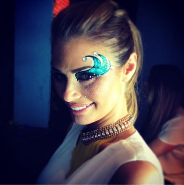 CHloe Sims's make-up artist Maya Lewis shares photo of Chloe 15.4.14