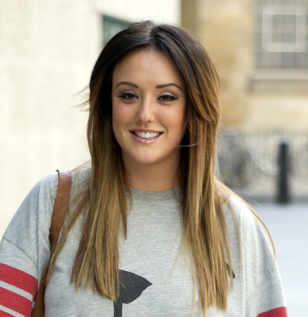 Charlotte Crosby arriving at the BBC Radio 1 studios to promote 'The Charlotte Crosby Experience'