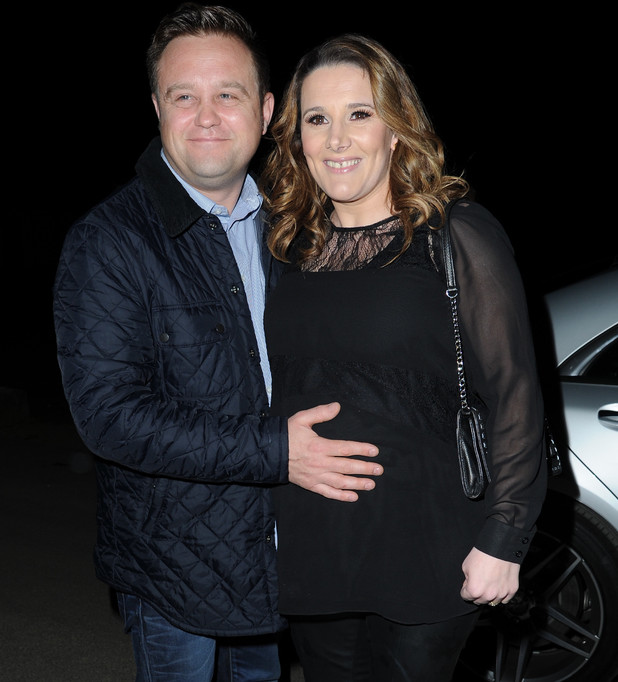 Sam Bailey and husband Craig Pearson at Manchester airport. 04/11/2014 Manchester, United Kingdom