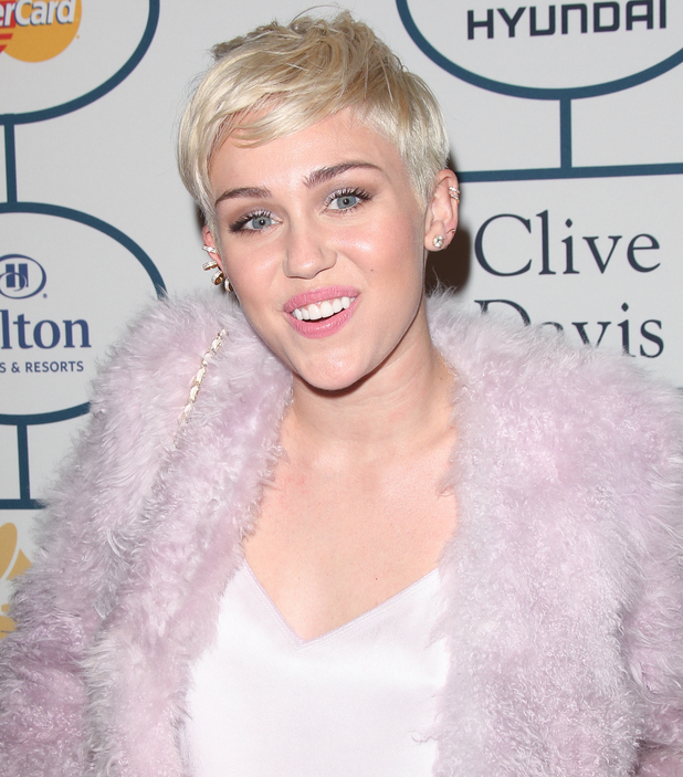 Miley Cyrus - 2014 Pre-Grammy Gala & Grammy Salute to Industry Icons - Clive Davis at The Beverly Hilton Hotel S01/26/2014
