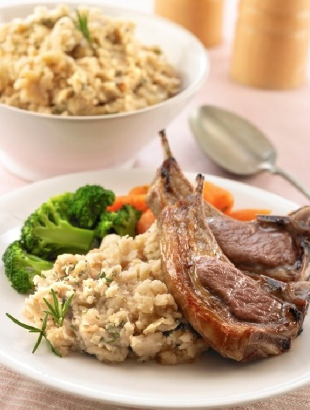 Lamb cutlets with butterbean mash