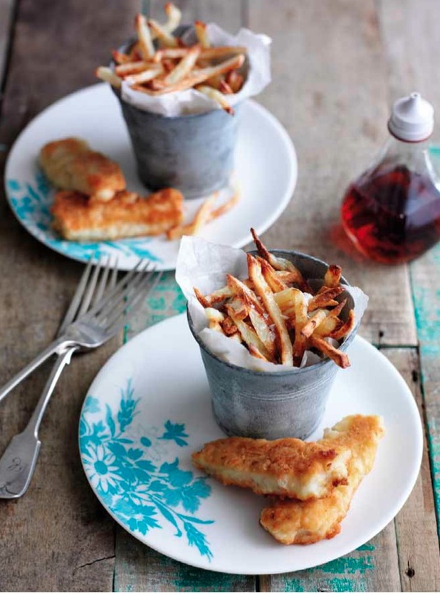 lemon fish fingers and chips