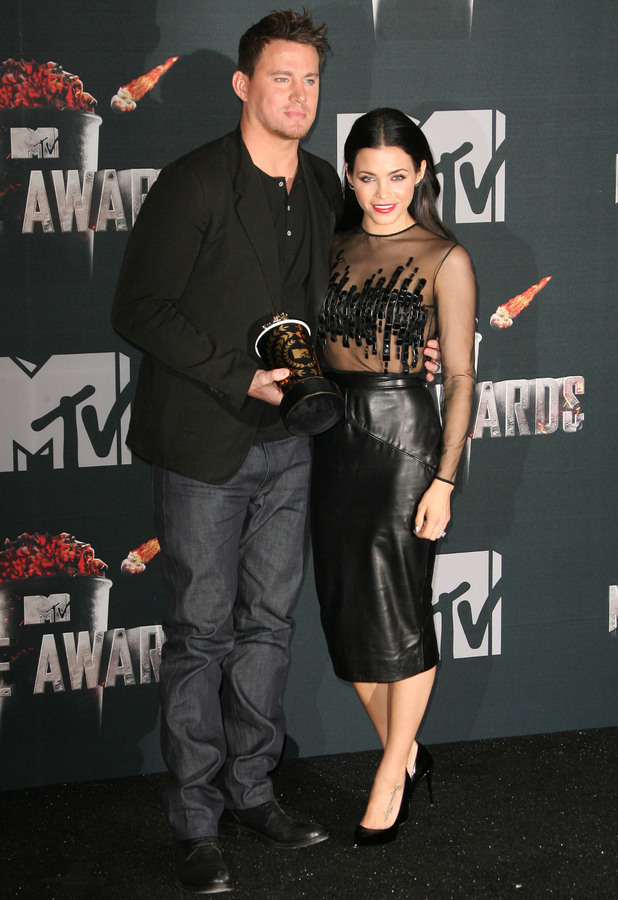 Jenna Dewan-Tatum and Channing Tatum step out at the MTV Movie Awards 2014 in Los Angeles, America - 13 April 2014