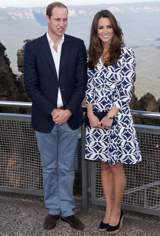 Prince William and Catherine Duchess of Cambridge visit Echo Point, Katoomba in the Blue Mountains, Australia - 17 Apr 2014