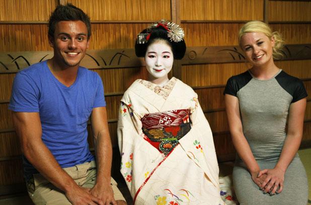 Tom Daley and best friend Sophie Lee visit Japan, Tom Daley Goes Global, episode airing 17 April 2014