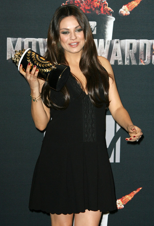 Mila Kunis at the 23rd Annual MTV Movie Awards at Nokia Theatre on April 13, 2014 in Los Angeles, California, 13 April 2014