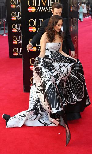 Myleene Klass at the Laurence Olivier Awards 2014 on 13 April 2014