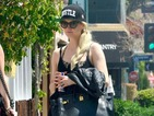 Ashlee Simpson shows off leopard print gym gear after LA workout