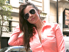 Imogen Thomas looks super-chic as she steps out of a Lamborghini!