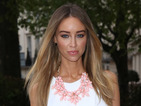 Lauren Pope gorgeous in pastel green Zara skirt at Superdrug party