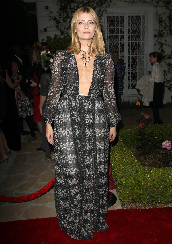 Mischa Barton wears a long black and white maxi dress to the 8th Annual BritWeek Launch Party - LA, 22nd April 2014