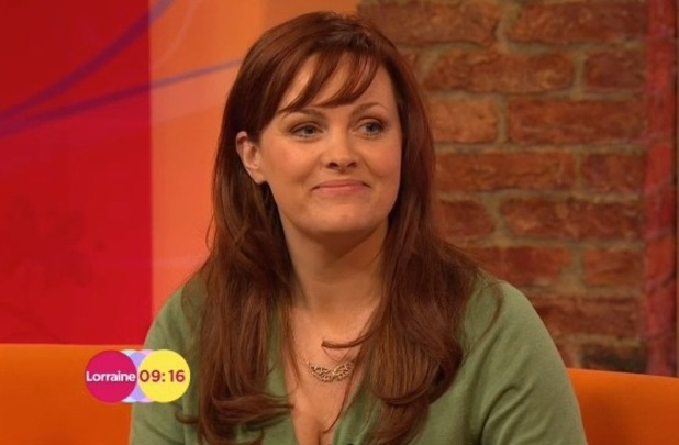 Jo Joyner shows off new brown hair on Lorraine - 24 April 2014
