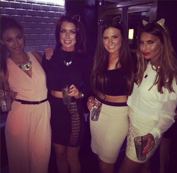 Ferne McCann parties with her friends on Easter weekend- 23 April 2014