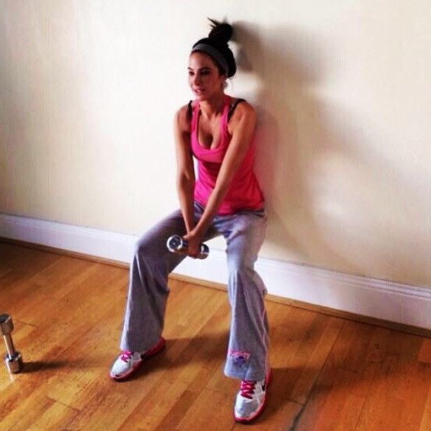 Tulisa Contostavlos works out at home - 24 April 2014