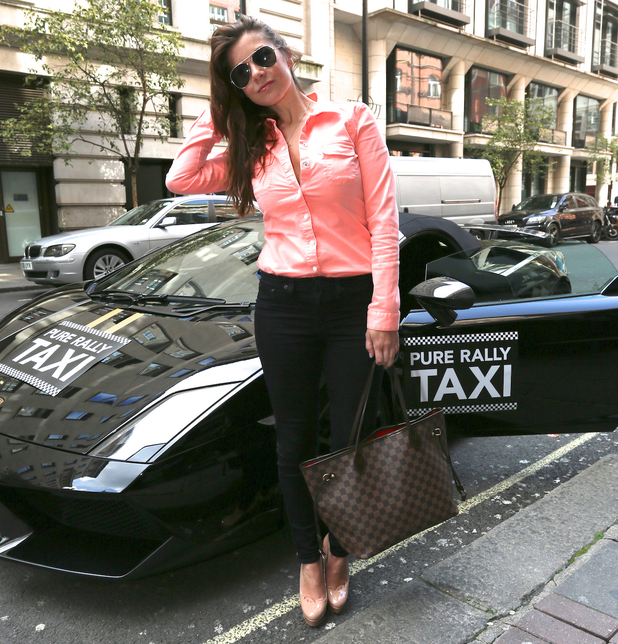 Imogen Thomas at the Pure Rally launch outside The Mayfair Hotel - 23 April 2014