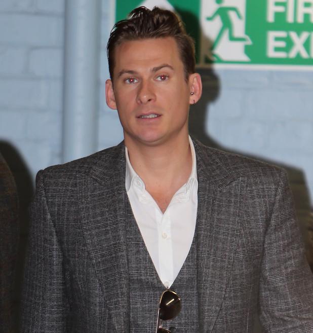 Lee Ryan outside the ITV studios. 29 January 2014. London, United Kingdom.