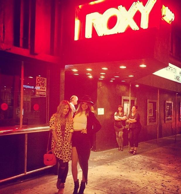 Millie Mackintosh and Caroline Flack attend the Arcade Fire gig in LA 22.4.14