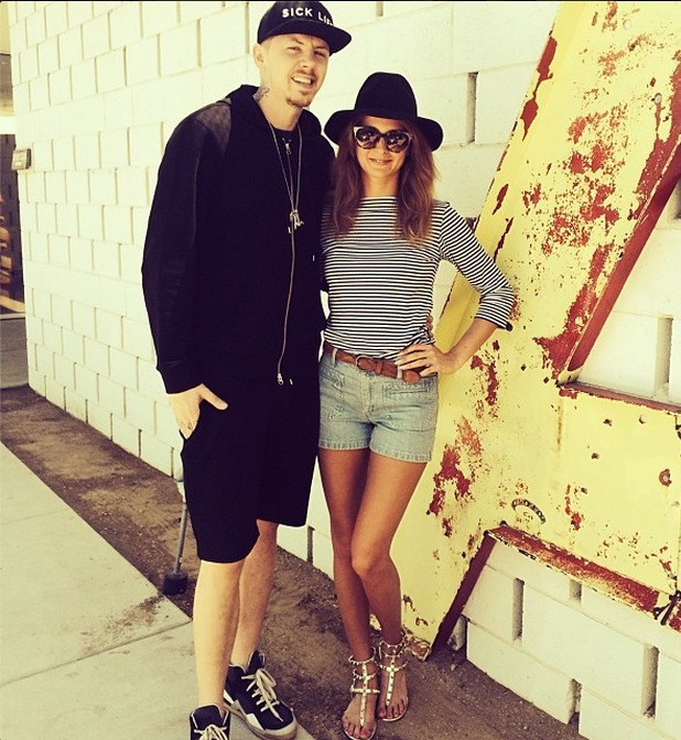 Millie Mackintosh and Professor Green on holiday in Palm Springs 21.4.14
