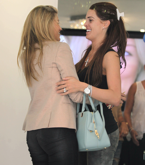 Amy Willerton and Danielle O'Hara at Tracie Giles, London, Britain - 23 Apr 2014