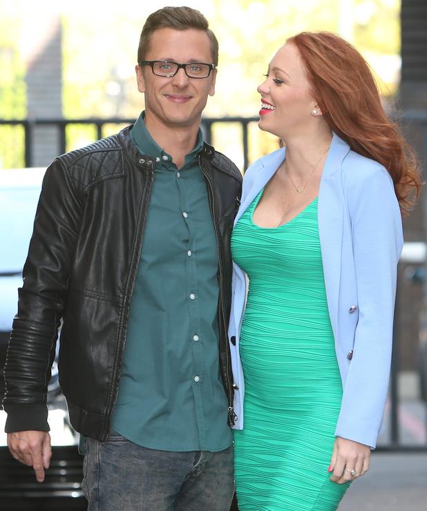 Natasha Hamilton and Ritchie Neville outside ITV Studios 04/23/2014