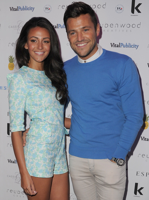 Mark Wright and Michelle Keegan arrive a Ruben Wood Creative Salon Launch Party 03/18/2014