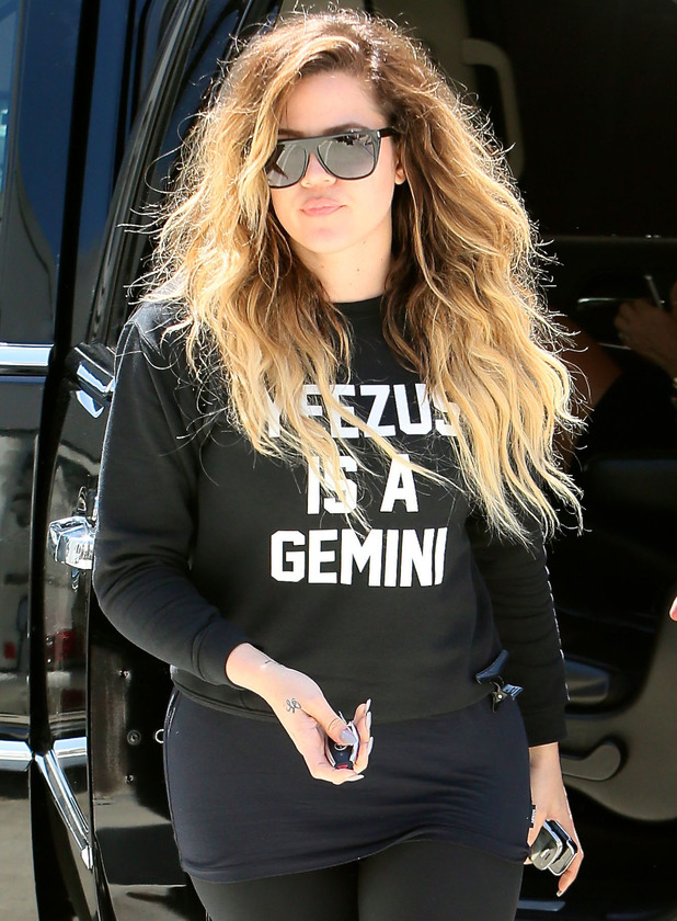 Khloe Kardashian seen getting out of a limousine and walking to her car after shopping with her mother kris Jenner - 24 April 2014