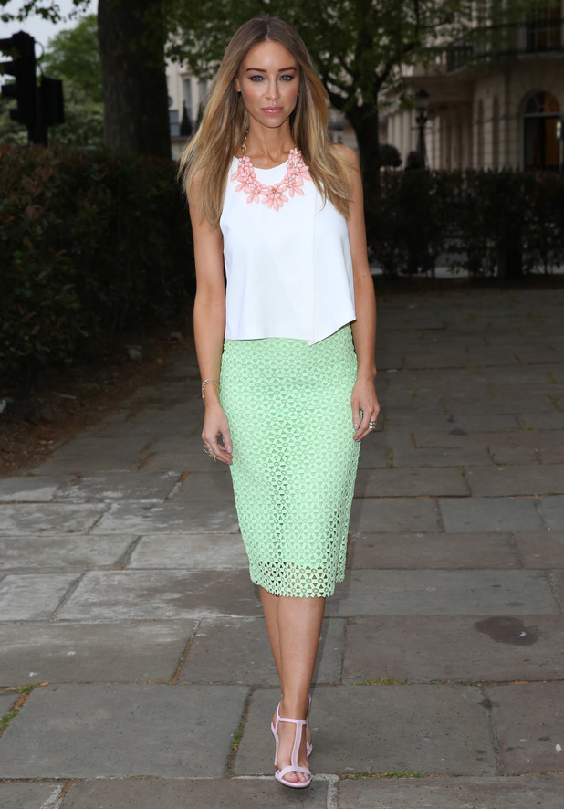 TOWIE's Lauren Pope attends the Superdrug 50th Birthday Party in London, England - 23 April 2014