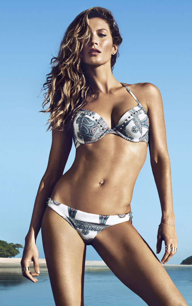 Gisele Bündchen models the new H&M high summer collection - April 2014