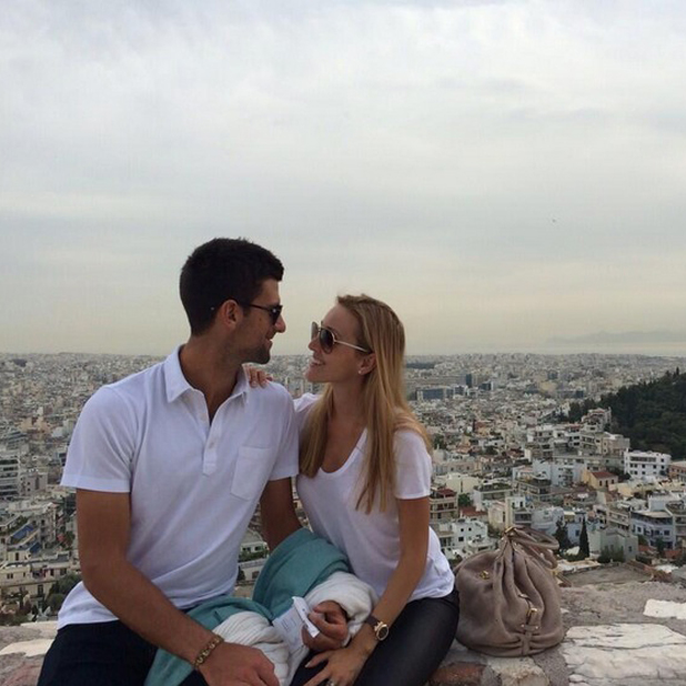 Novak Djokovic and fiancee Jelena Ristic announce they're expecting a baby, 24 April 2014