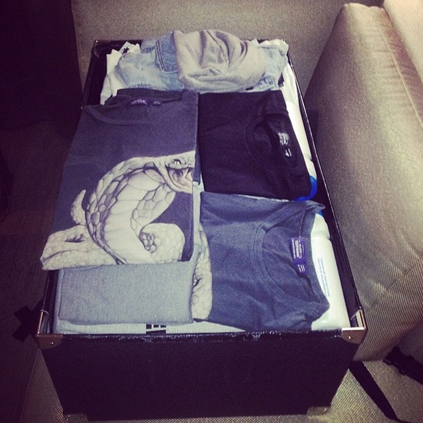 Niall Horan shares photo of his suitcase after arriving in Bogota, Colombia for first date on stadium tour, 2014