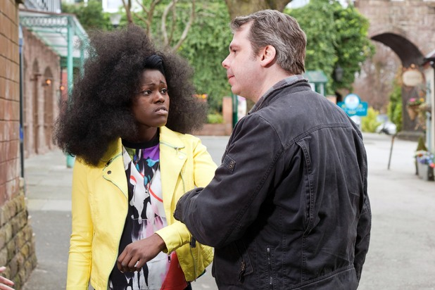 Hollyoaks, Michael threatens Blessing, Thu 1 May