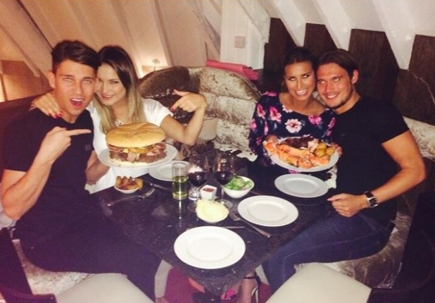 TOWIE co-stars enjoy dinner at Rare Cow, 2 May 2014